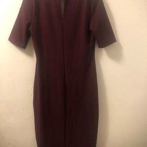 Burgundy Almost Famous dress